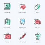 Pacchetto medico delle icone Fotografie Stock Libere da Diritti