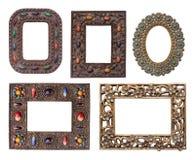 Pacchetto ornamentale delle cornici del metallo Fotografie Stock Libere da Diritti