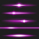 Pacchetto porpora dei raggi laser Fotografia Stock