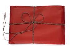 Pacchetto rosso del regalo Fotografia Stock Libera da Diritti