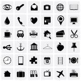 Pacchetto universale dell'icona Fotografia Stock Libera da Diritti