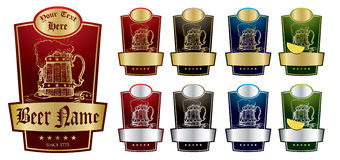 Pacchetto V2 dei contrassegni della birra Immagine Stock Libera da Diritti