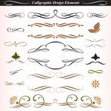 Elementi calligrafici 04 di disegno Fotografia Stock Libera da Diritti