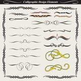 Elementi calligrafici 05 di disegno Fotografia Stock Libera da Diritti