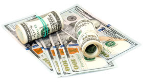 Pacco degli Stati Uniti 100 dollari di banconote Fotografie Stock