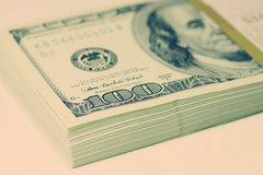 Pacco dei dollari Immagini Stock
