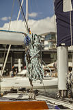 Pacco delle corde di barca Fotografie Stock