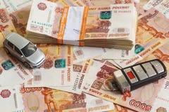 Pacco delle fatture della rublo di mezzo milione rubli russe, argento Immagine Stock