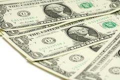 Pacco delle fatture in un dollaro americano Fotografia Stock Libera da Diritti