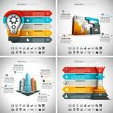 4 in 1 pacco di Infographics Fotografie Stock