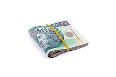 Pacco di valuta polacca Fotografie Stock Libere da Diritti
