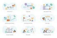Pacco piano di vettore dell'illustrazione di concetto illustrazione di stock