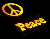 Pace illustrazione vettoriale