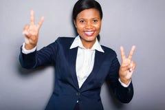 Pace africana della donna immagine stock libera da diritti