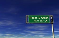 Pace & segno calmo dell'uscita di autostrada senza pedaggio Immagini Stock