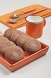Pace del bigné con le gocce e l'ostruzione di cioccolato Immagine Stock Libera da Diritti