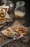 Pace del primo piano del biscotto dell'arachide Fotografie Stock Libere da Diritti