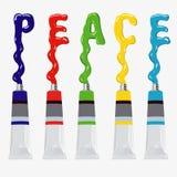 Pace dell'iscrizione - illustrazione Immagini Stock Libere da Diritti