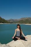 Pace della riva del lago Immagine Stock