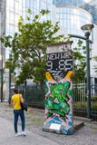 Pace di Berlin Wall a Bruxelles, Belgio Immagini Stock