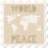 Pace di mondo del bollo Immagine Stock Libera da Diritti