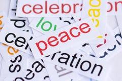 Pace di parola fotografia stock