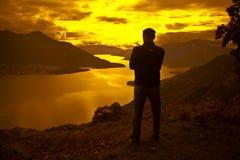 Pace di tramonto Fotografia Stock