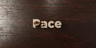 Pace - grungy wooden headline on Maple  - 3D rendered royalty free stock image. This image can be used for an online website banner ad or a print postcard Stock Image
