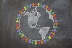 Pace intorno al mondo Immagine Stock Libera da Diritti