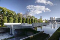 Pace Memorial Park di Hiroshima con la fiamma di pace, Giappone fotografia stock