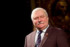 Pace Nobel Lech Walesa al Regio immagine stock