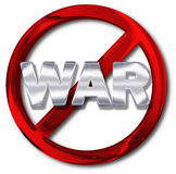 Pace o anti concetto di guerra Fotografie Stock Libere da Diritti