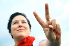 Pace o vittoria immagine stock libera da diritti