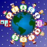 Pace per i bambini royalty illustrazione gratis