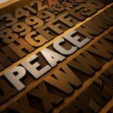 Pace in scritto tipografico Immagini Stock Libere da Diritti