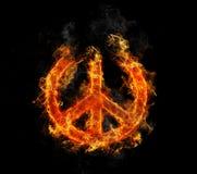 Pace su fuoco Fotografie Stock Libere da Diritti