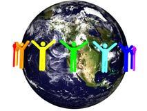 Pace su terra Immagine Stock