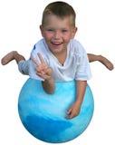 Pace su una sfera Immagini Stock