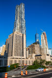 Pace University and Gehry Building in New York Royalty Free Stock Photo