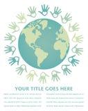 Pace variopinta del mondo e disegno di unità. Fotografia Stock