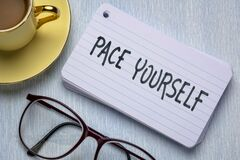 Free Pace Yourself Reminder Note Royalty Free Stock Photography - 180428987