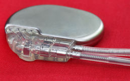 Pacemaker with Electrical Leads Royalty Free Stock Image