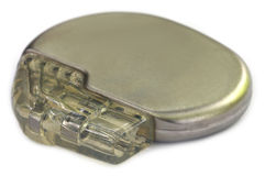 Pacemaker. Over white background with selective focus royalty free stock images