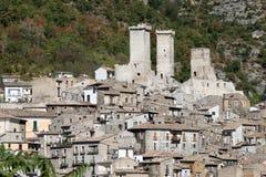 Pacentro, Italie Photos libres de droits