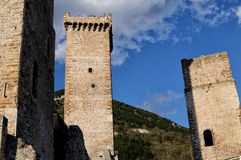 Pacentro liten stad av Abruzzo Royaltyfria Bilder