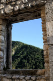 Pacentro liten stad av Abruzzo Royaltyfri Fotografi