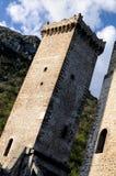 Pacentro liten stad av Abruzzo Arkivfoton