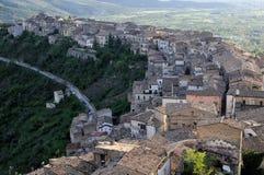 Pacentro liten stad av Abruzzo Arkivbild
