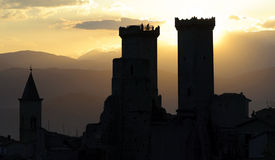 Pacentro small village of Abruzzo Royalty Free Stock Photography