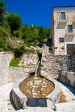 Pacentro Stary miasteczko w Abruzzo gór regionie Obrazy Stock